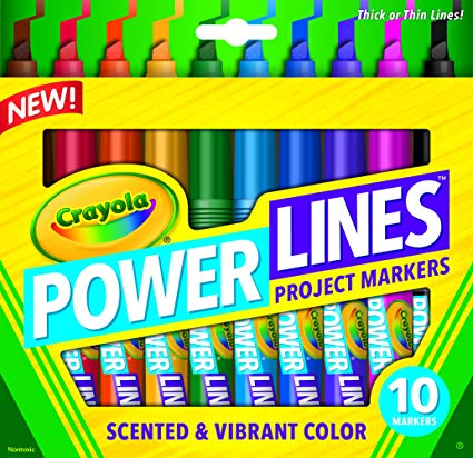Crayola Power Lines Project Markers - 10 Pack
