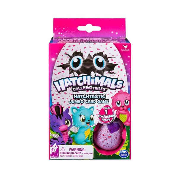 Hatchimals Jumbo Card Game with Figure