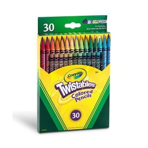 Crayola Twistables 30 Pack Coloured Pencils