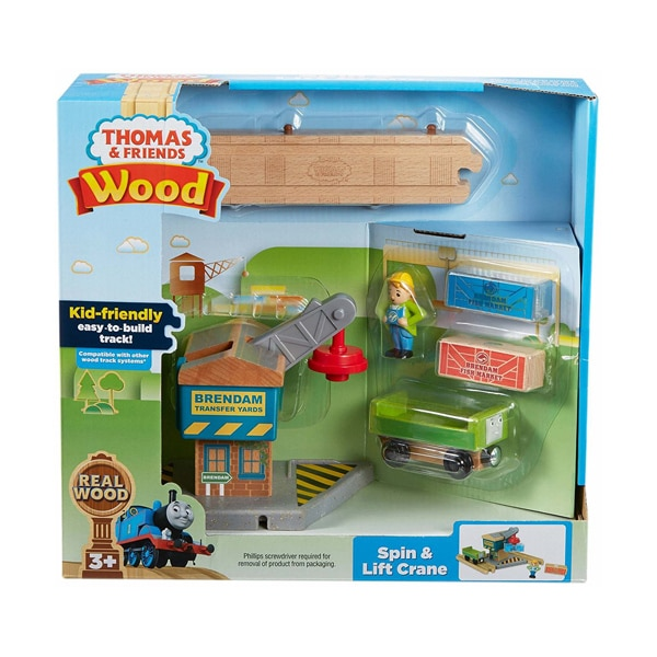 Thomas Amp Friends Wooden Spin And Lift Crane Set Samko