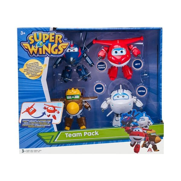 Super Wings Transforms Plane to Bot Team Pack