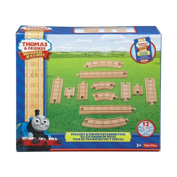 Thomas and Friends Wooden Railway Straight and Curved Real Wood Expansion Pack