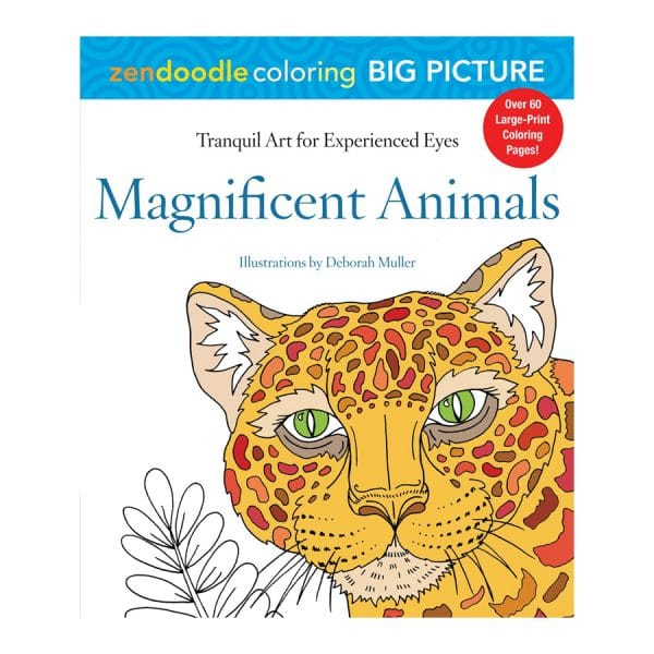 Magnificent Animals Zendoodle Coloring