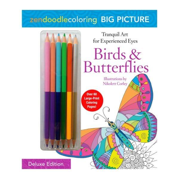 Birds n Butterflies Zendoodle Coloring