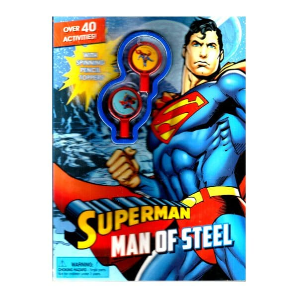 Superman Man of Steel Activity Book with Pencil Toppers