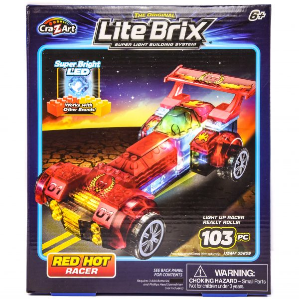 Cra-Z-Art Lite Brix Super Light Building System Red