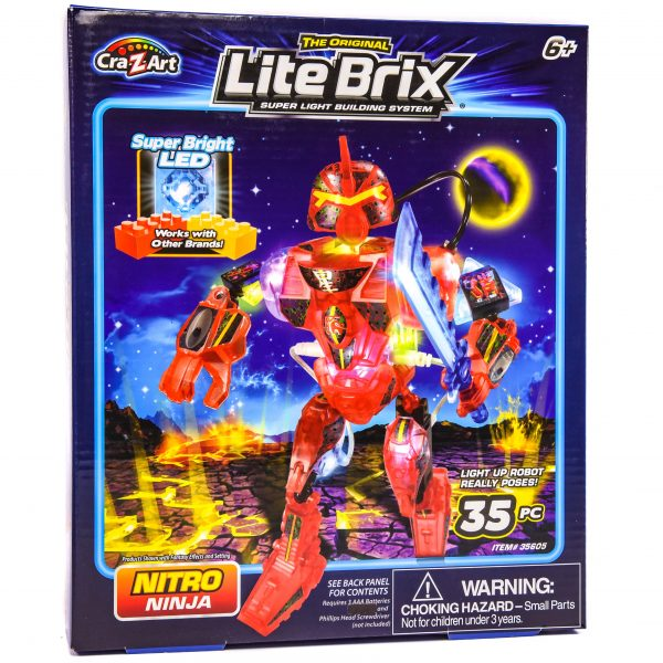 Cra-Z-Art Light Brix Building System - Nitro Ninja