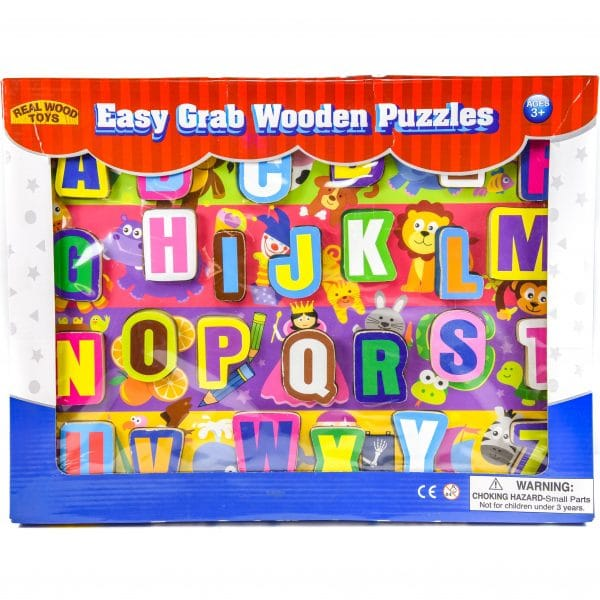 Easy Grab Wooden Puzzle ABC