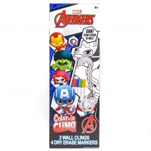 Marvel Avengers Color-in Cling