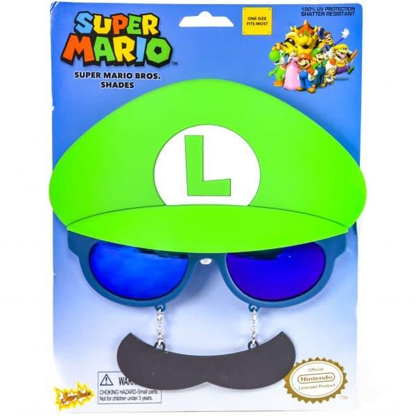Super Mario Bros Luigi Mustache Sunstaches Sun Shades