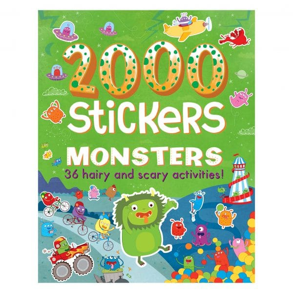 2000 Stickers Monsters with 36 Hairy n Scary Activities