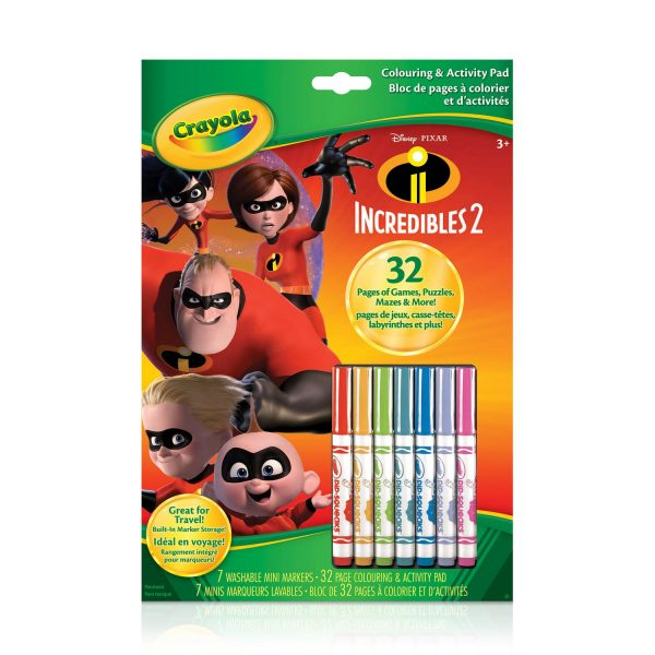 Crayola Incredibles 2 Colouring and Activity Book