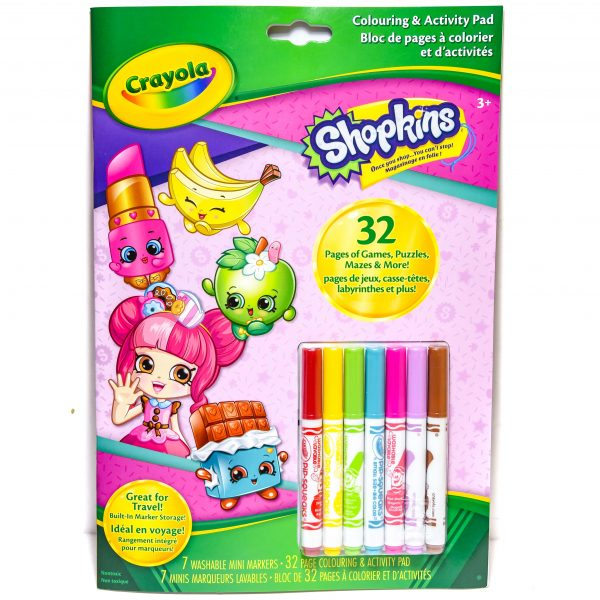 Crayola Shopkins Coloring and Activity Pad