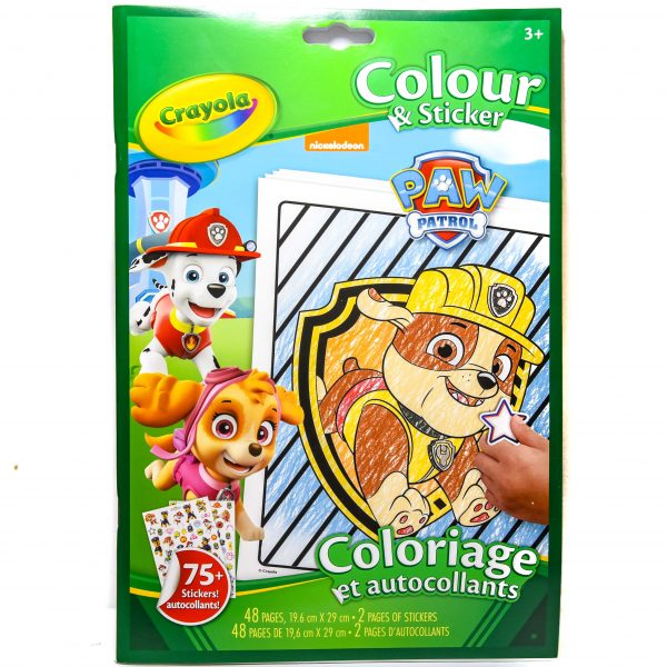Crayola Color and Sticker Book - Paw Patrol
