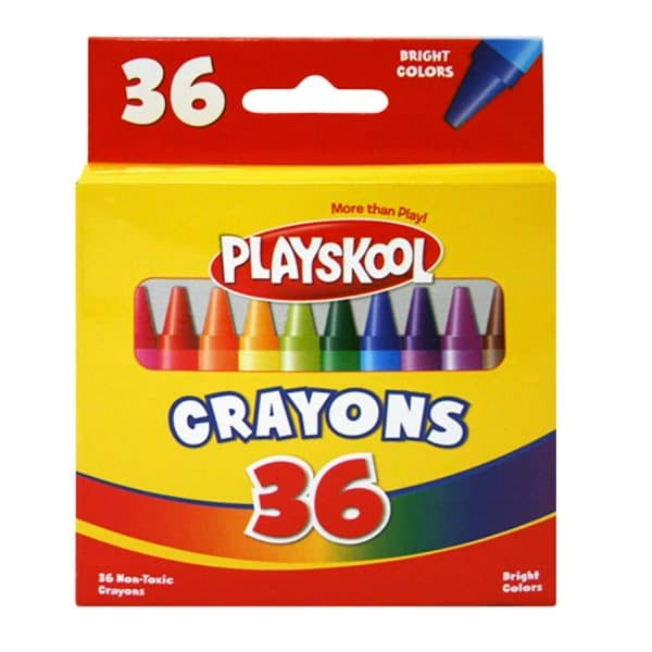 36 Playskool Crayons