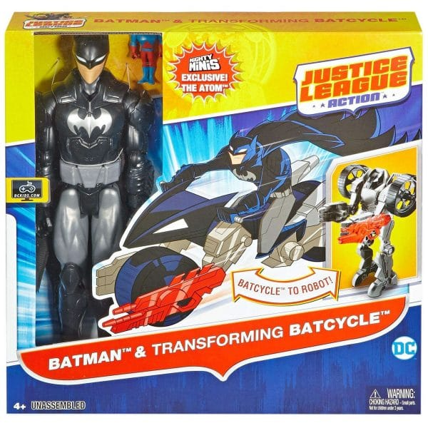 Justice League Batman and Transforming Batcycle