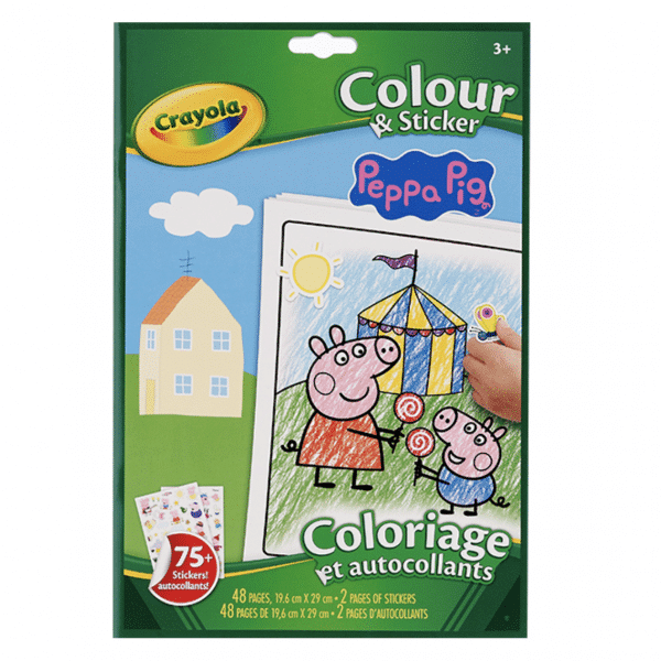 Crayola Colour and Sticket Book - Peppa Pig