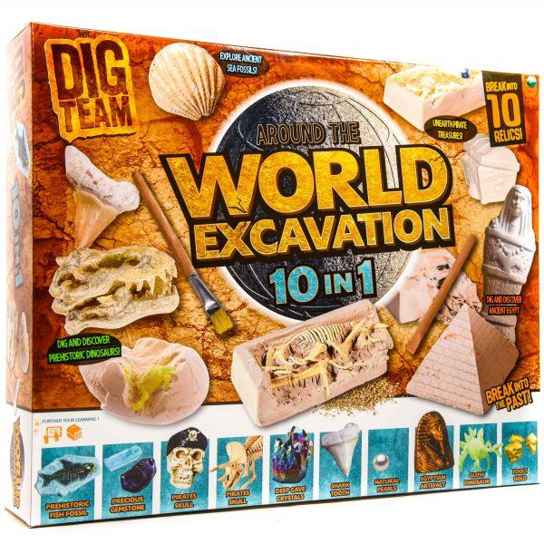 10in1 World Excavation Play Set