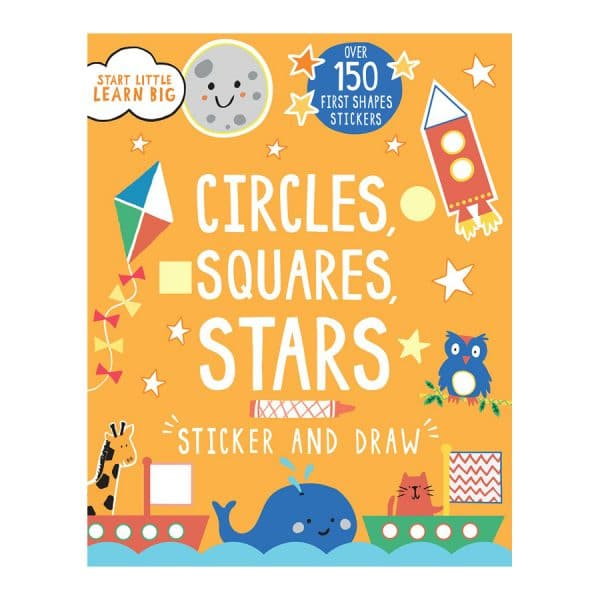 Circles Squares Stars Sticker and Draw