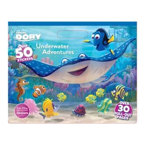 Underwater Adventures Coloring Pad with Stickers Dory