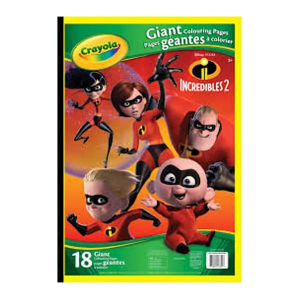 Giant Colouring Pages The Incredibles 2 CR