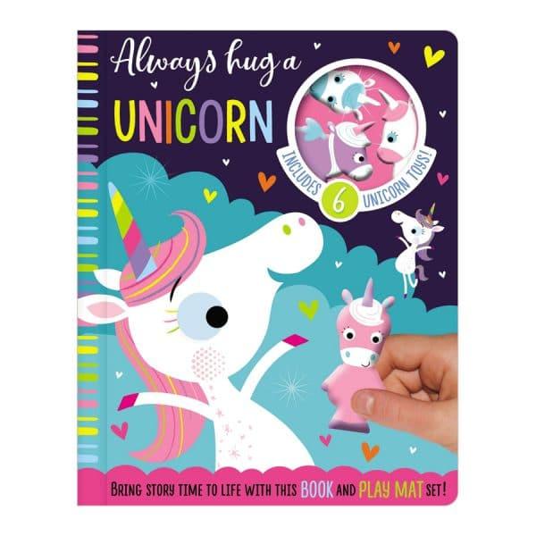 Always Hug A Unicorn Book & Play Mat