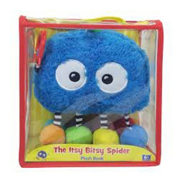 Jiggle & Discover: Itsy Bitsy Spider-Interactive Board Book with Fun Dangling Cloth and Crinkle Pieces