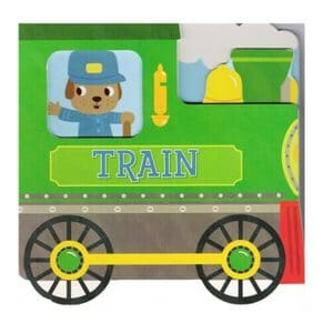 Train-Follow the Adventures of a Hardworking Vehicle and Animal Friends in this Colorful Train-Shaped Board Book Board book