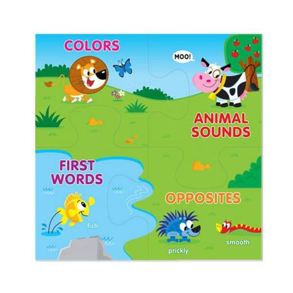 Animal Friends Book & Puzzle All In One (Connect-A-Book)