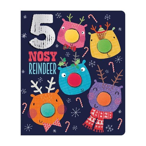 Five Nosy Reindeer Board book