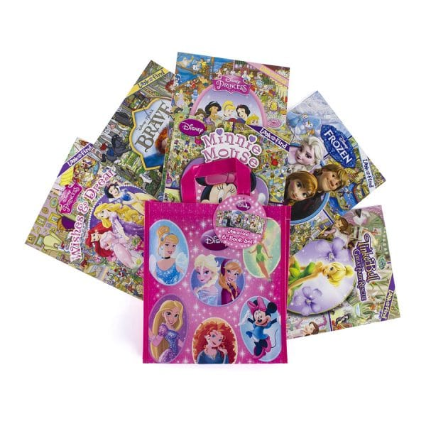 Disney Look and Find Softcover 6 Book Tote Disney Girl Paperback