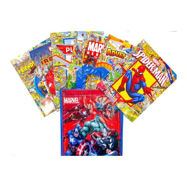Disney Look and Find Softcover 6 Book Tote Disney Marvel Paperback