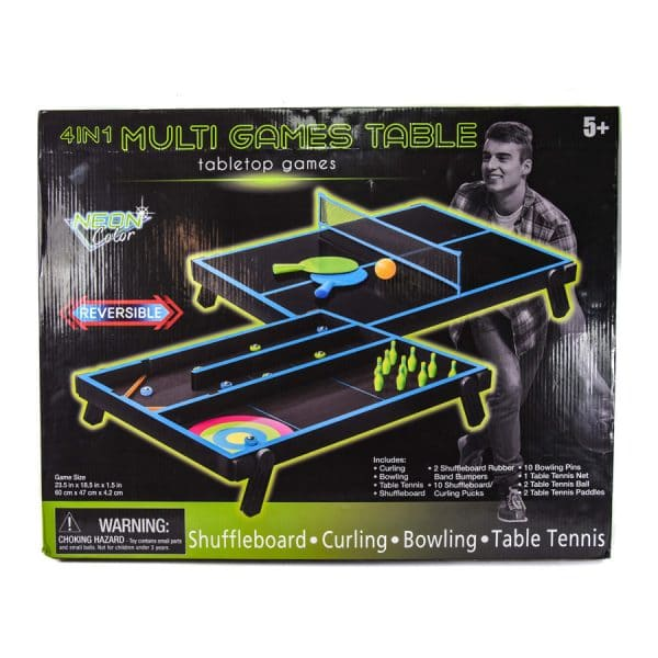 Tabletop 4 in 1 Multi Games Table