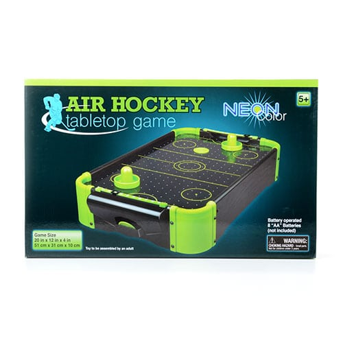 Table Top Neon Air Hockey