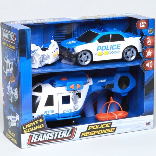 Teamsterz Light n Sound Police Response Playset