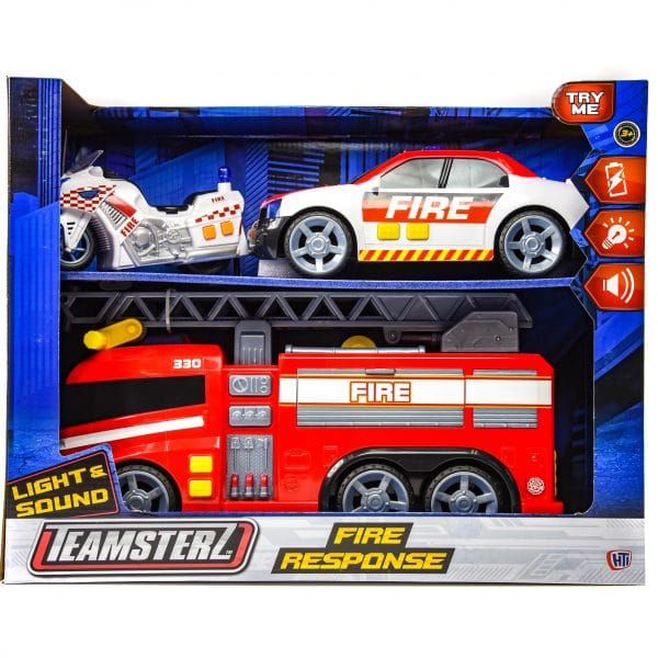 Teamsterz Light n Sound Fire Response Playset