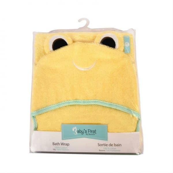 Babys First Bath Wrap Yellow