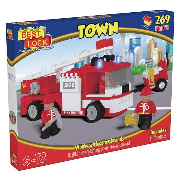 Town Fire Fighter Engine with Mini Figures 269 Pieces