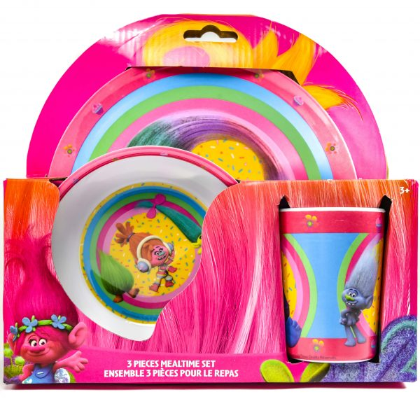 Trolls 3 Pc Melamine Set
