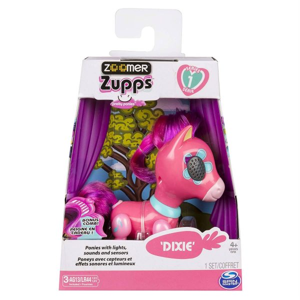 Zoomer Zupps Pretty Ponies with Lights Sounds n Sensors Dixie
