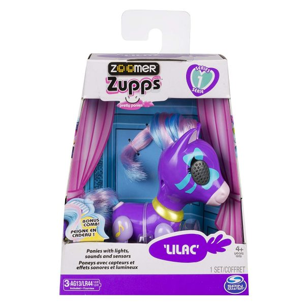 Zoomer Zupps Pretty Ponies with Lights Sounds n Sensors Lilac