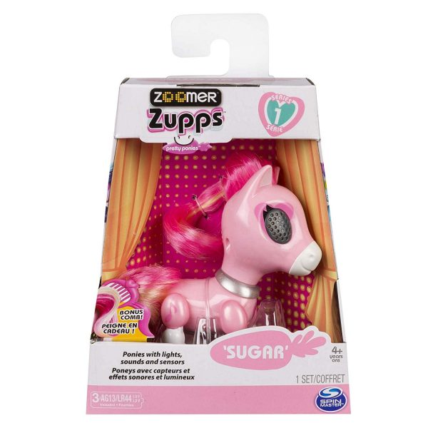 Zoomer Zupps Pretty Ponies with Lights Sounds n Sensors Sugar