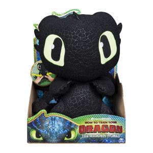 DreamWorks Dragons, Squeeze & Growl Toothless, 10-Inch Plush Dragon with Sounds
