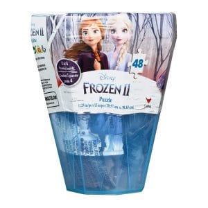 Disney Frozen 2 Surprise Puzzle -48 Piece in Plastic Gem-Shaped Storage Case