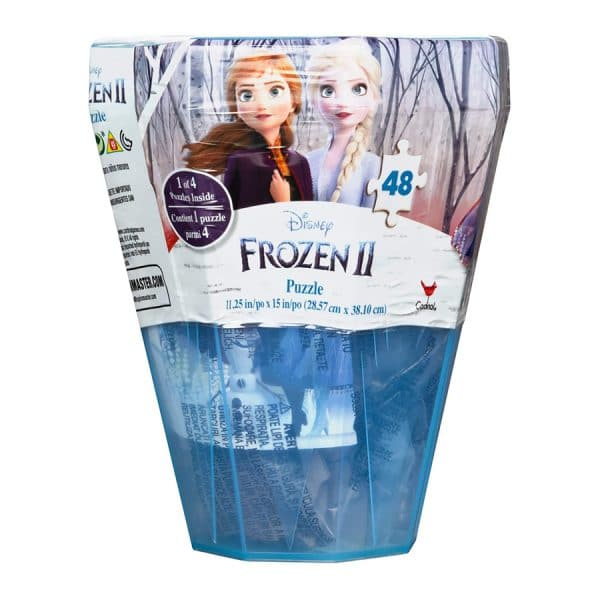 Disney Frozen 2 Surprise Puzzle -48 Piece in Plastic Gem-Shaped Storage Case