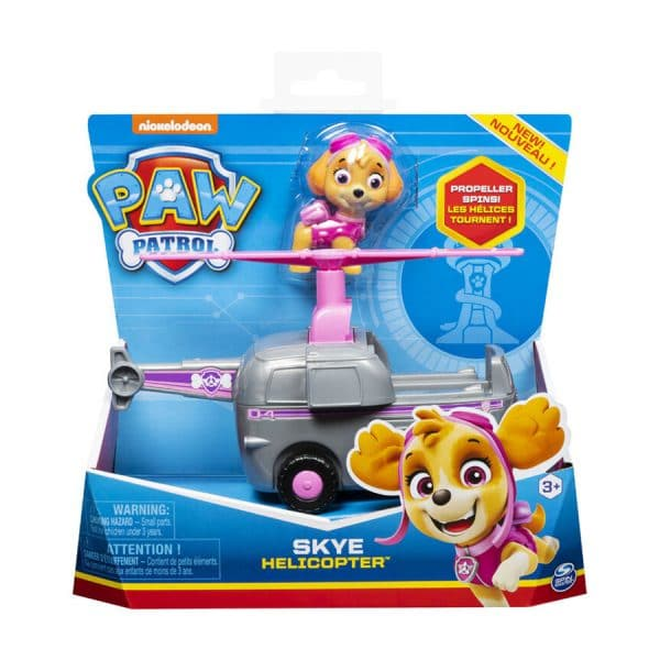 Paw Patrol Skye Basic Vehicle - Helicopter with Collectible Figure