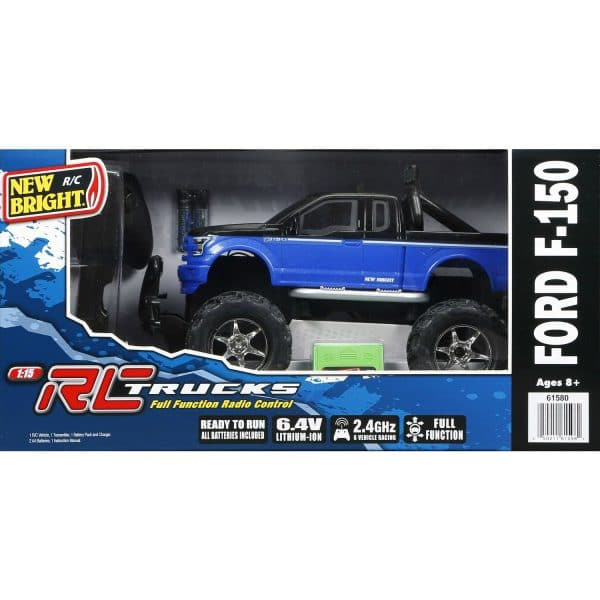 RC Full Function Trucks Ready to Run Ford F-150 Blue