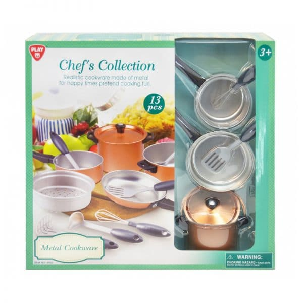 Playgo Chefs Collection Metal Cookware 13 Pcs