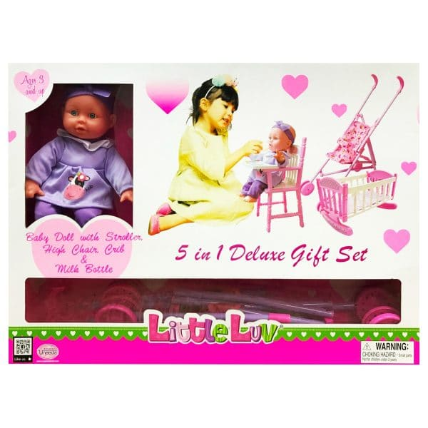 Uneeda 5 in 1 Deluxe Doll Gift Set