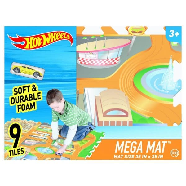 Hot Wheels Mega Mat 9 Foam Tiles 35 inch